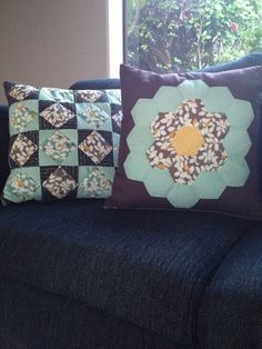 Pillow 40cmx40cm #patchwork #dhitahandmades