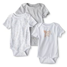 Circo® Newborn 3 Pack Short-sleeve Fox Bodysuit