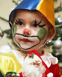 Maquillaje niños de payaso. Face painting kids, clown, make up