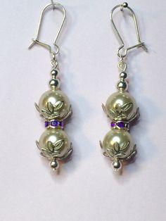 Swarovski Pearl Drop Earrings by XYZJewellery on Etsy