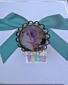 AKCIÓS ÁR! lila rózsás gyűrű antik színű állítható gyűrűalappal, Ékszer, óra, Gyűrű, Ezt a gyűrűt antik színű, állítható méretű kerek,csipkés szélű gyűrűalappal készítet..., Meska