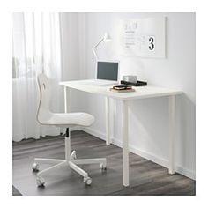 IKEA - GODVIN, Ben,  , , Bordet kan nemt flyttes hen over gulvet, for plastfødderne beskytter mod ridser.