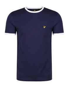 The Lyle & Scott Ringer t-shirt will add freshness into your summer wardrobe thanks to its signature style with classic contrasting colour on the neckline and cuffs. Crafted from premium cotton which is soft and comfortable to wear, this short sleeve t-shirt has a regular fit with iconic Lyle & Scott branding on the chest and is perfect to pair with chinos or shorts for the warm summer months.