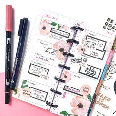 Create 365 Happy Planner, Mini Happy Planner, Digital Bullet Journal, Planner Layout, Planner Ideas, Planner Doodles, Planner Decorating, Erin Condren Life Planner, Day Planners