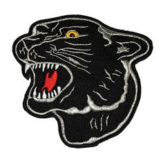 Black Panther embroidered patch (ep554) ❤ liked on Polyvore featuring accessories