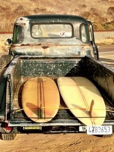 Old trucks & surfboards, it doesn't get much better than this.