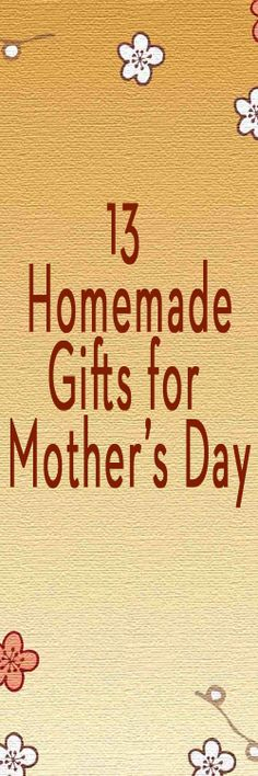 Perfect gift ideas for Mother's Day!  #DIY #mothersday #crafts #homemade #mothersdaygift