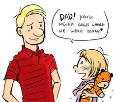 Outstanding tribute to the greatest comic strip ever, Calvin & Hobbes. Wish I knew who did this.