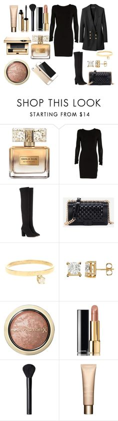 """""""Без названия #4381"""" by southerncomfort ❤ liked on Polyvore featuring Givenchy, T By Alexander Wang, Aquazzura, Loren Stewart, Max Factor, Chanel, NARS Cosmetics, Dolce&Gabbana, Clarins and FingerPrint Jewellry"""