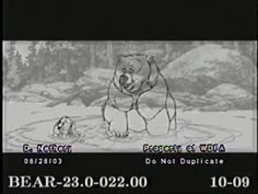 Brother Bear Clean Up Animation