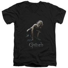 Lotr/Gollum Short Sleeve Adult T-Shirt V-Neck in