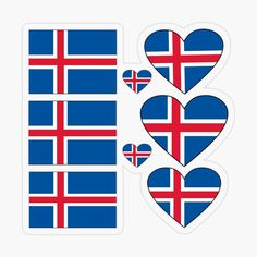 Iceland Stickers. Icelandic Stickers Sheet. Iceland Sticker Pack. Love Iceland. by GraceTee | Redbubble Iceland Flag, Top Artists, Packing, Stickers, Love, Gifts, Bag Packaging, Amor, Presents