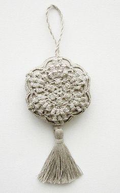 Items similar to Lavender sachet/ hanging decoration natural linen handmade crochet- wedding favor-rustic on Etsy - Wedding favors Crochet Sachet, Crochet Gifts, Crochet Motif, Knit Crochet, Crochet Patterns, Blanket Crochet, Lavender Bags, Lavender Sachets, Crochet Wedding Favours