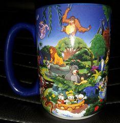 "Disney Parks/Pixar All Characters Coffee/Tea Mug 5"" Tall Mickey Minnie Jungle"