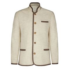 Mondays are for starting fabulously fresh again. Boiled Wool Jacket, Brown Beige, Mondays, Wool Coat, Modest Fashion, Traditional Outfits, Custom Made, Luxury Fashion, Shirt Dress