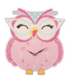 Wooden Owl Clock by Tricoastal on #zulily