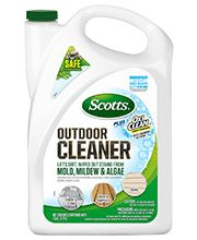 Fast-Foaming+Action+that+Starts+Working+on+Contact  Lifts+Dirt+and+Wipes+Out+Stains+from+Moss,+Mold,+Mildew+and+Algae+and+More  Safe+to+Use+Around+Lawns+and+Plants  Will+Not+Harm+Fabrics  Cleans+Concrete,+Wood,+Siding,+Patio+Furniture+and+More  Safe+to+use+with+Power+Washers  Makes+up+to+10+Gallons      OxiClean™+is+a+trademark+of+Church+&+Dwight+Co.,+Inc.+and+is+used+under+license+by+The+Scotts+Company+LLC.    Learn+More+about+Scotts+Outdoor+Cleaners