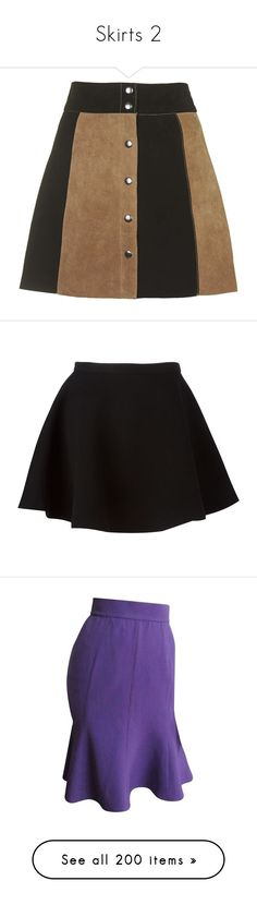 """""""Skirts 2"""" by coollavinia ❤ liked on Polyvore featuring skirts, mini skirts, bottoms, topshop, black, mini skirt, suede skirts, short skirts, high waisted a line skirt and short a line skirt"""