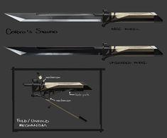 Dishonored Concept Art: Corvo's Sword