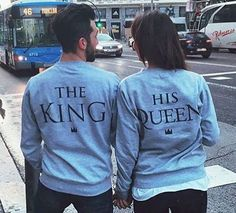 THE KING And HIS QUEEN Couples Casual Sweatshirt