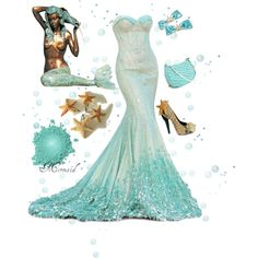 Mermaid by zoe-nicole on Polyvore featuring Fountain