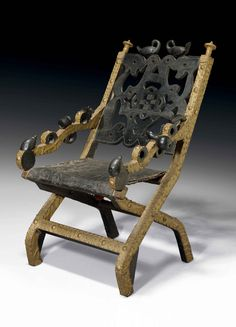 Africa   King's chair/throne from the Asante people of Ghana   Wood, gold…