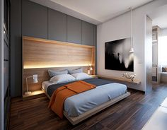 A young couple master suite design