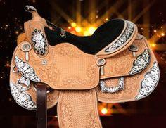 Stunning silver Showman saddle   ChickSaddlery.com