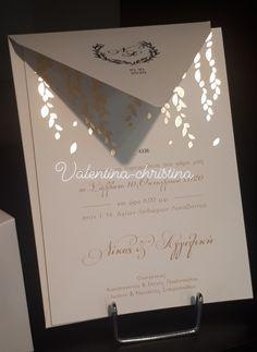 315454e07f3b Valentina-Christina Γάμος βάπτιση · Πρωτότυπα προσκλητήρια γάμου
