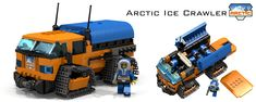 https://flic.kr/p/mzzSaZ | Arctic Ice Crawler | I know there is already an Ice Crawler among Lego Arctic sets, but I just couldn't find another name for it... Maybe I should call it an APC? Anyways, I really like the upcoming 2014 lineup and this is my small tribute to the Arctic series. This thing fits seven minifigs total, but it still has some space left in the cockpit... For some ammunition or equipment maybe.