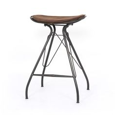 Ryder Counter Stool-Vintage Tobacco Red Bar Stools, Vintage Bar Stools, Bar Chairs, Black Stool, White Stool, Bar Counter, Counter Stools, Color Of The Year, Bars For Home