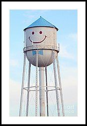 Smiley The Water Tower Framed Print by Steve Augustin