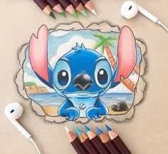 ideas for drawing disney stitch pictures Disney Character Drawings, Disney Drawings Sketches, Cute Disney Drawings, Pencil Art Drawings, Cartoon Drawings, Cool Drawings, Drawing Disney, Drawing Faces, Disney Characters