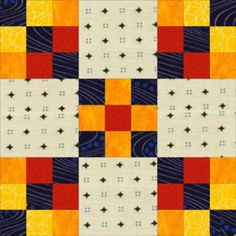 """Learn How to Make Easy Double Nine Patch Quilt Blocks: Learn to Make Double Nine Patch Quilt Blocks.  The block is  only 11 1/14"""" so will make  the blocks alittle bight to  make  it 12 1/2' for  swap."""