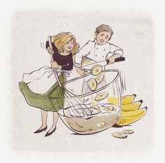 Illustration for the home pastry by Valentina Yaskina, via Behance