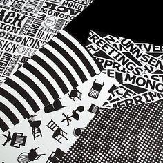 デザインペーパー50【monotone モノトーン ラッピング 白黒 ギフト プレゼント ブックカバー ランチョンマット タイポグラフィー ストライプ デザイン】【楽天市場】
