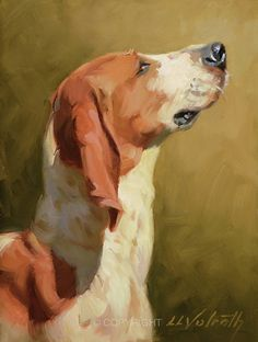For the Biscuit by Linda Volrath Oil ~ 8 x 6 Modern Oil Painting, Oil Painting Abstract, Painting & Drawing, Dog Portraits, Animal Paintings, Dog Art, Art Studios, Biscuit, Artwork
