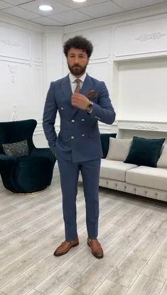 Mens Casual Dress Outfits, Blazer Outfits Men, Dress Suits For Men, Mens Fashion Blazer, Stylish Mens Outfits, Men's Suits, Suit Fashion, Latest African Men Fashion, Indian Men Fashion