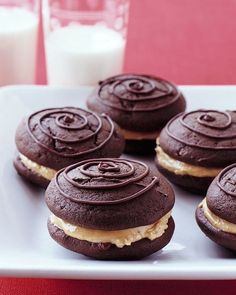 Chocolate and Peanut Butter Whoopie | http://my-perfect-desserts.blogspot.com