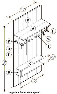 See how you can make a medium size wardrobe from scaffolding wood and pipes, connected with tube clamps. Coat hangers and doorway storage shelves. Entry Coat Rack, Scaffolding Wood, Hangout Room, Homemade Furniture, Pipe Furniture, Coat Hanger, How To Make Bed, Home Decor Accessories, Home And Living