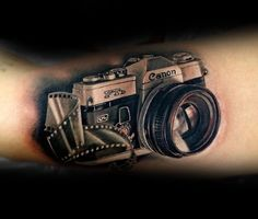Canon Realistic Camera Tattoo Mans Forearms …