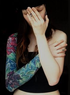 Sleeved girl. #tattoo #tattoos #ink
