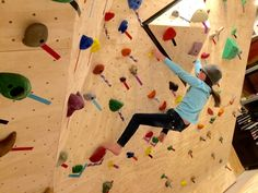Make your home climbing wall better instantly: Build a plywood volume. Learn how. Indoor Climbing Wall, Rock Climbing, Bouldering Wall, Kids Outdoor Play, Outdoor Gym, Indoor Playhouse, Natural Playground, Rock Wall, Inspiration Wall
