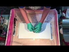 (074) Flip and Drag Acrylic Pouring Airbrush - YouTube