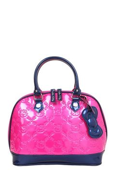 15ae07713aa3 Loungefly - Hello Kitty Fuchsia Color Block Embossed Dome Bag
