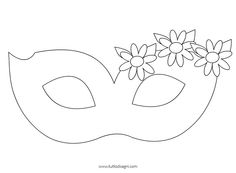 maschera-fiori2 Easy Paper Crafts, Diy And Crafts, Arts And Crafts, Paper Mask, Carnival Masks, Finger Puppets, Colouring Pics, Printable Coloring Pages, Halloween Crafts