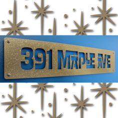 This would so go with our mid-century cheap home: CUSTOM MOD Interlocking Style House Numbers in by studio724