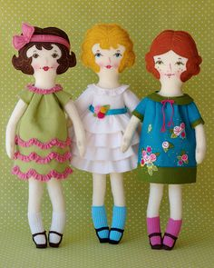 Ellie - PDF Pattern Wool Felt Doll.