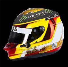 Pascal Wehrlein 2014 Abu Dhabi Test helmet