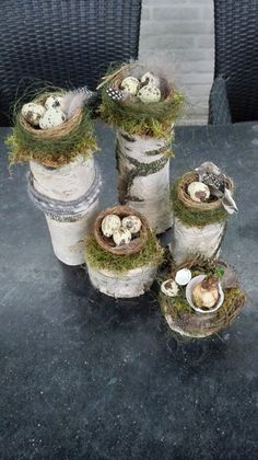 Easter birch trunk with bird nest Fayette . - Easter birch trunk with bird& nest – Fayette Weber – - Easter Table, Easter Eggs, Fleurs Diy, Deco Floral, Nature Crafts, Holiday Traditions, Easter Wreaths, Spring Crafts, Easter Crafts